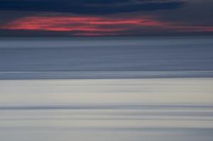 Zonsondergang Franse kust