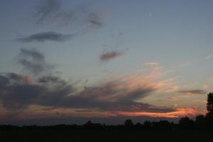 Ondergaande zon in Ankeveen